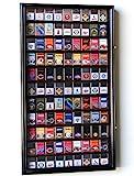 zippo case display - 99 Zippo Lighter Display Case Cabinet Holder Wall Rack w/ UV Protection -Black