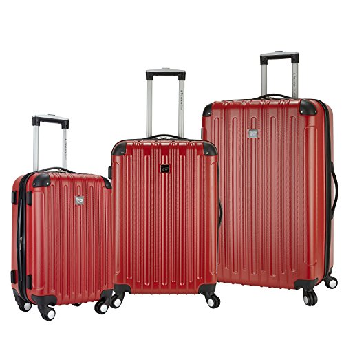 Travelers Club Luggage Madison 3-Piece Expandable Hardside Luggage Set, Red by Traveler's Club