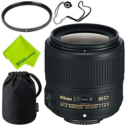 Nikon AF-S NIKKOR 35mm f/1.8G ED Lens Base Bundle by Nikon