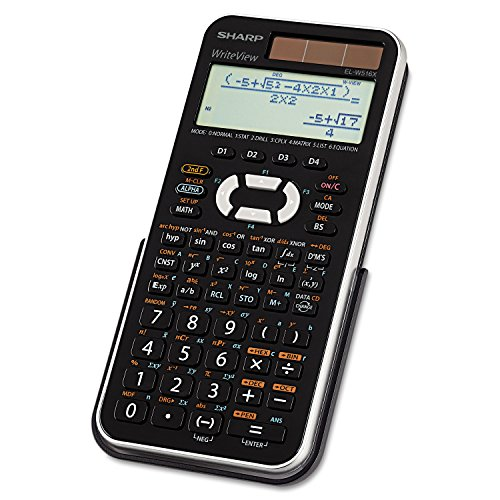 Sharp ELW516X Scientific Calculator - 535 Functions - 4 Line(s) - 12 Character(s) - LCD - Battery/Solar Powered - 1.1quot; x 5.8quot; - Black, Silver by Sharp