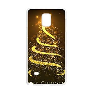 Christmas Gold Shining Tree White Phone Case for Diy For SamSung Galaxy S5 Case Cover