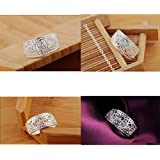 Sumanee New beautiful Fashion Silver plated Classic Wedding party Women Ring (8)