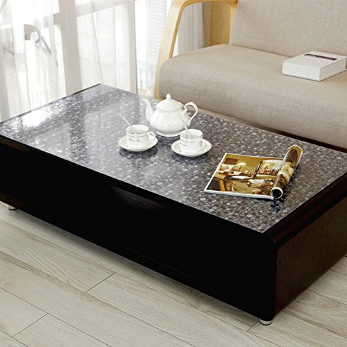 Frosted Cocktail - XKQWAN Pvc table mat Transparent table cloth waterproof Burn-proof soft glass Frosted coffee table pad Plastic tablecloths Thickened crystal sheet tablecloth-B 60x120cm(24x47inch)