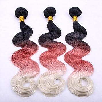 Drei Farbe Farbverlauf Vorhänge rot weiße schwarze Kunsthaar ...