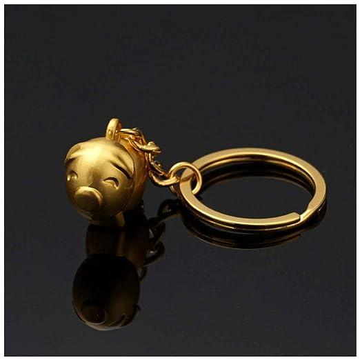 CYGJLYZ Llavero Creativo de Cerdo 12 Zodiac Gold Pig Llavero ...