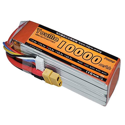 Price comparison product image Youme 14.8V 4S RC Lipo Battery 10000mah 25C XT60 Plug for Multi-Rotor DJI Tarot 550 680 Quad HEX DJI S800 S1000 Plant Protection Machine