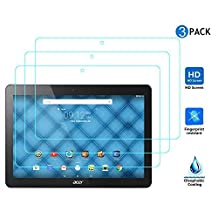 IVSO 3 Pack of Premium Clear Screen Protectors for Acer Iconia One 10 B3-A20 10.1-Inch Tablet