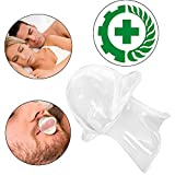 Anti Snoring Tongue Retaining Device Snoring Stopper Tongue Sleeve FDA Approved Silicone (White)