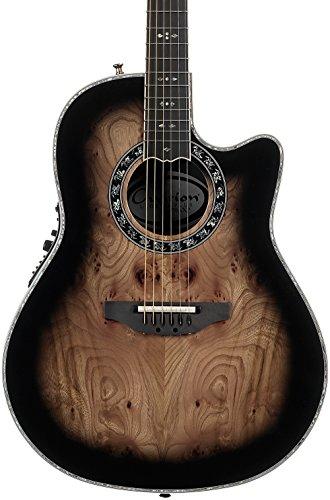 Ovation ExoticWoods Collection 6 String Acoustic Electric Guitar, Right, Elm Burl, Deep Contour Body (C2079AXP-EB)