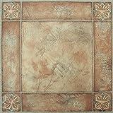 kitchen floor tile  FTVMA44620 Nexus 12X12-Inch Vinyl Tile, Spanish Rose, 20-Pack