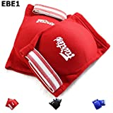Bangplee_Sport FAIRTEX Elastic Elbow Pads EBE1 Muay Thai Kick Boxing Protect Soft Fabric (Red)