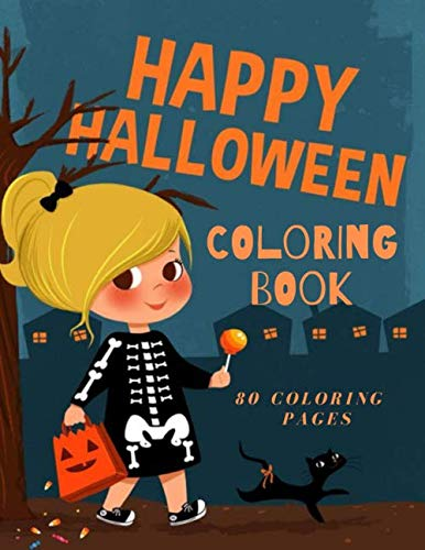 Halloween Crafts And Coloring Pages (Happy Halloween  Coloring Book 80 Coloring Pages: Happy Halloween Coloring Book, Halloween Books, 80 Halloween Coloring Pictures, For Kids, Crafts for ... Pages, Coloring Pictures, Unlined 8,5