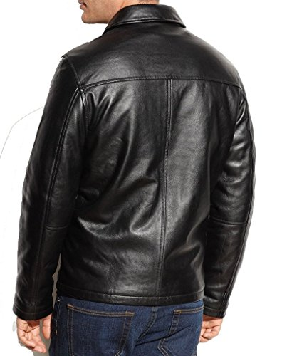 New York Leather Men's New Range Bomber Biker Jacket: Amazon.ca: Clothing &  Accessories
