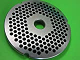 Smokehouse Chef Size #42 x 1/4' larger hamburger grind holes. Stainless Steel for Cabelas, Hobart, LEM, Weston and others