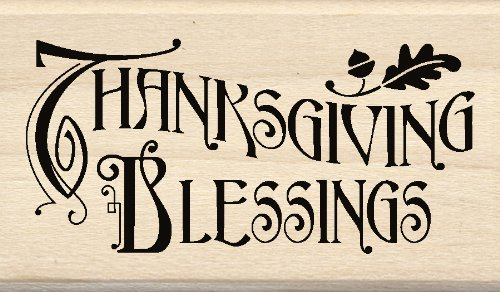 Inkadinkado Wood Stamp, Thanksgiving Blessings EKS 60-00818