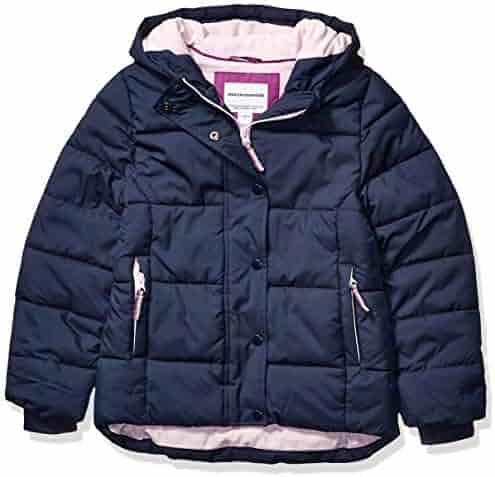 Amazon Essentials Girls' Heavy-Weight Hooded Puffer Coat