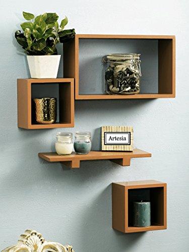 Artesia   SCFP 714 Wooden Wall Shelf Set Of Four