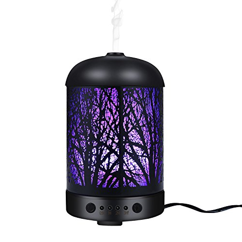 COOSA Genuine Unique Enchanted Forest Designed 100ml Ultrasonic Aromatherapy Essential (Forest Aromatherapy)