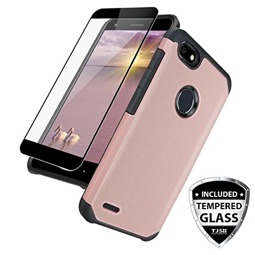 60%OFF TJS Compatible ZTE Blade X Case, with [Full Coverage Tempered