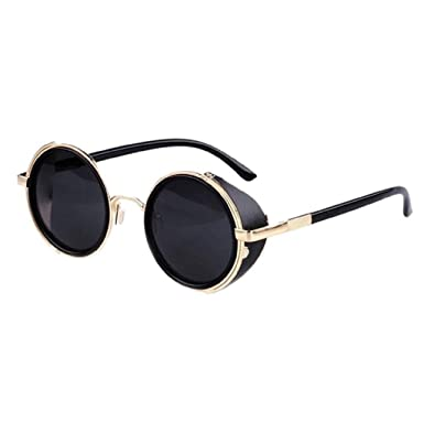d0976d5b4d Koly Vintage Retro Cyber Steampunk Mirror Lens Round Women s Sunglasses  (TRTAV11A)  Amazon.in  Clothing   Accessories