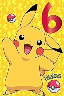 Pokemon Age 6 Birthday Greetings Card