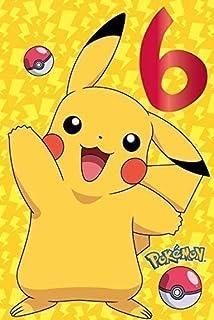 Pokemon Age 6 Birthday Greetings Card
