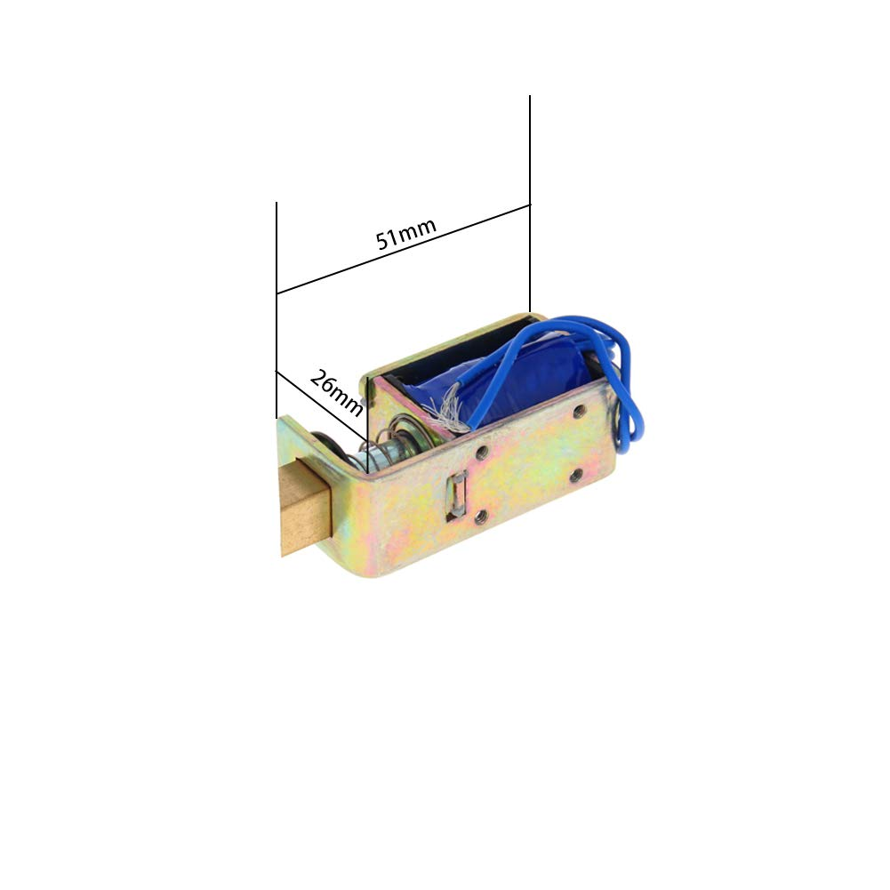 Fielect 1Pcs DC Linear Motion Solenoid Electromagnet Push Pull Type Open Frame Type JF-1683B-12V