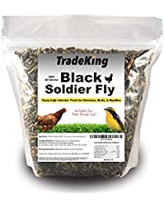 TradeKing Natural Dried Mealworms - High Protein Treat for Wild Birds, Chicken, Fish & Reptiles