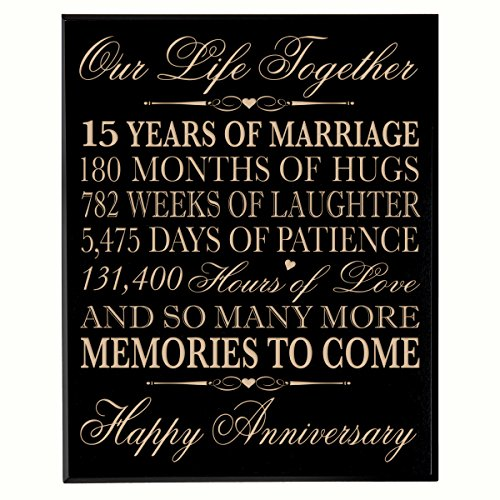 15th Year Wedding Anniversary Gift Amazon Com