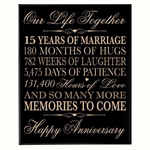 15th Year Wedding Anniversary Gift: Amazon.com