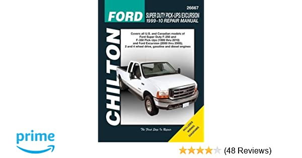 Ford super duty pick ups excursion 1999 2010 chiltons total car ford super duty pick ups excursion 1999 2010 chiltons total car care repair manual chilton 9781563928888 amazon books fandeluxe Choice Image