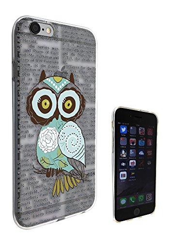 c0033 - Cute Owl Vintage newspaper Fashion Design Pour iphone 5C Protecteur Coque Gel Rubber Silicone protection Case Coque