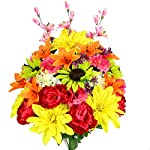 Admired-By-Nature-36-Stems-Artificial-New-Dahlia-Sunflower-Peony-Hydrangea-Mixed-Flower-Bush-with-Greenery-for-Home-Wedding-Restaurant-office-Decoration-Arrangement