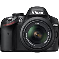Nikon D3200 24.2 MP CMOS Digital SLR Camera with 18-55mm DX VR Lens, 52mm Deluxe Filter Kit, Deluxe Gadget Bag, and 8GB SD Memory Card