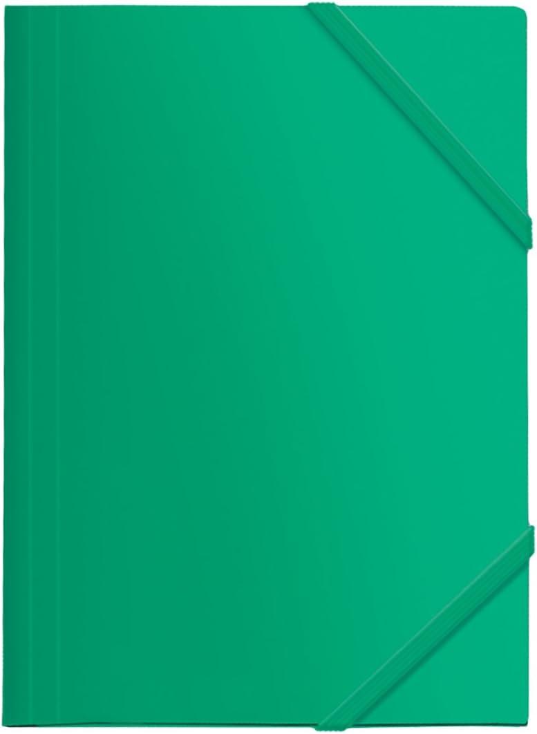 Dohe 90602 - Carpeta Polipropileno, goma plana, color verde