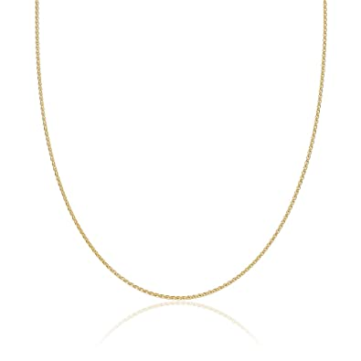 8e7ed239d983a 2mm thick 14k gold plated solid sterling silver 925 Italian SPIGA WHEAT  chain necklace chocker bracelet anklet - 6