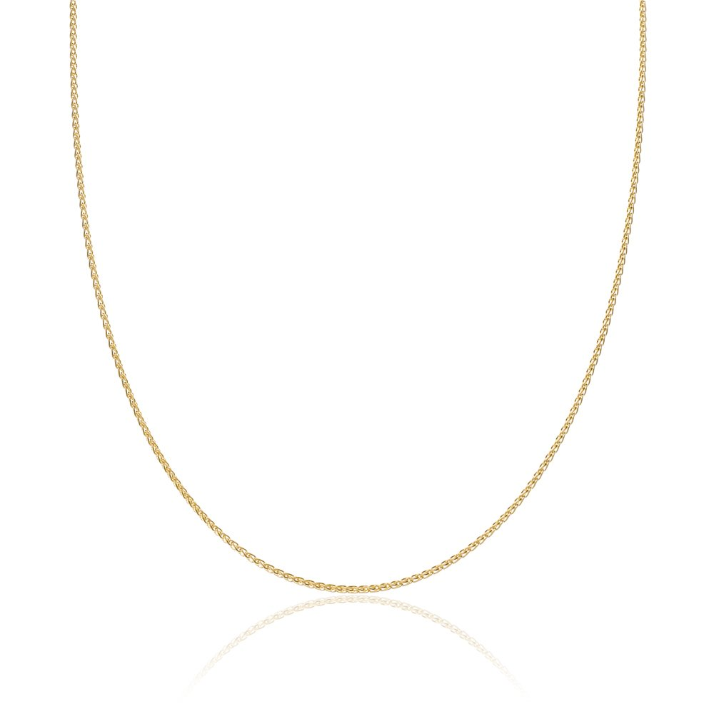 2mm thick 14k gold plated solid sterling silver 925 Italian SPIGA WHEAT chain necklace chocker bracelet anklet - 6'', 8'', 10'', 12'', 14'', 16'', 18'', 20'', 22'', 24'', 26'', 28'', 30'', 32'', 34'', 36'', 38'', 40''