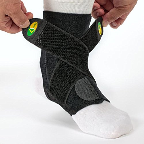 Kana5459 Sports Ankle Joint Support Brace Stability 3-tier Structure 2 Adjustable Bands SS
