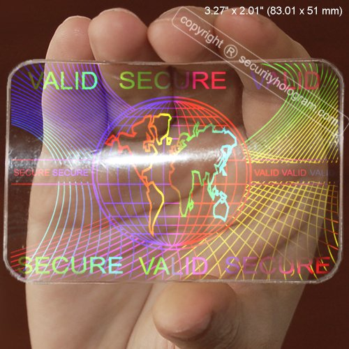 5 ID Cards Security Hologram Overlay Stickers with Micro Secure Technology SHID-08