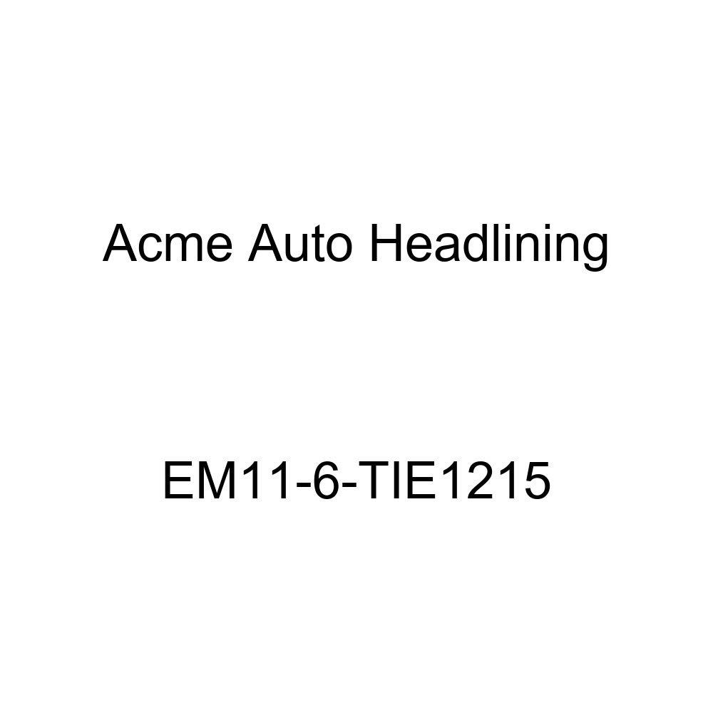 Acme Auto Headlining EM11-6-TIE1215 Turquoise Replacement Headliner 1939 Buick Roadmaster Series 80 4 Door Sedan - 8 Bows