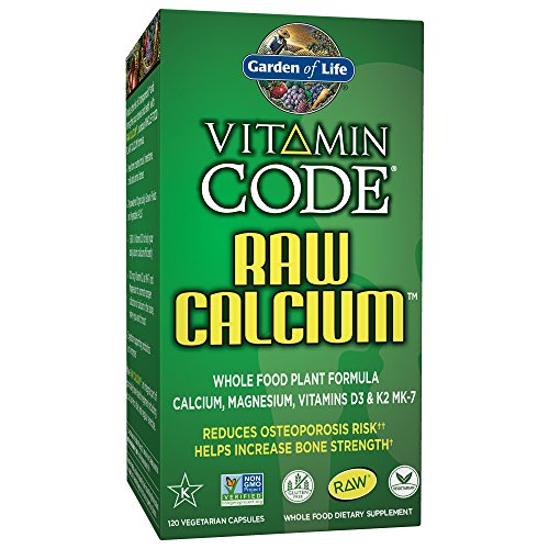 (Garden of Life Raw Calcium Supplement - Vitamin Code Whole Food Calcium Vitamin for Bone Health, Vegetarian, 120 Capsules)