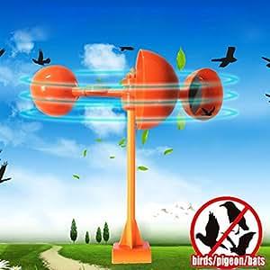 Pájaros Scare y conducción, Creat pájaros Prevención area-wind-driven, reflejar la luz con 3espejos, alta eficiencia