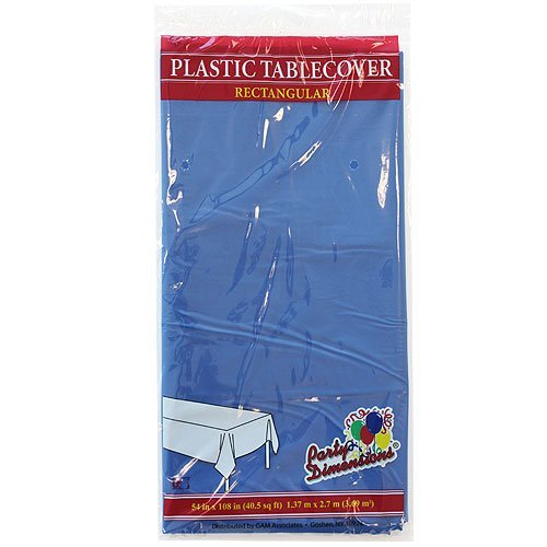 Plastic Party Tablecloths - Disposable, Rectangular Tablecovers - 8 Pack - New (New Tablecloth)