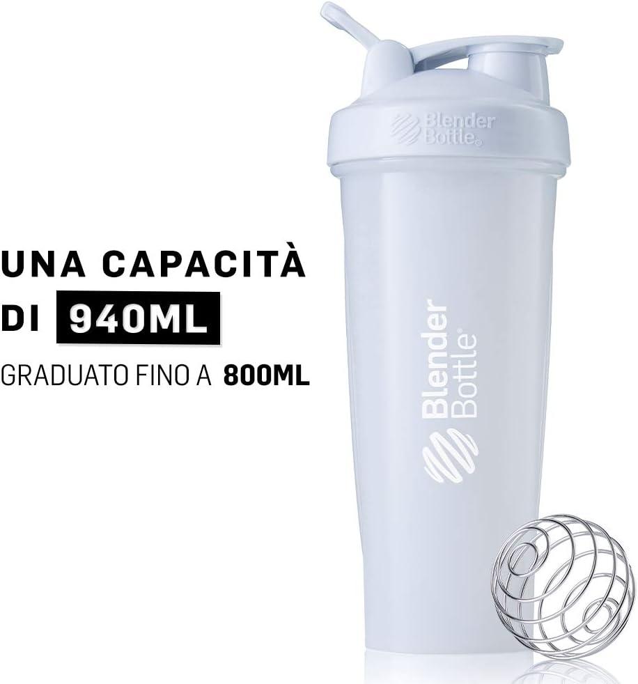 BlenderBottle Classic Loop - Botella Mezcladora de Batidos de proteínas con batidor Blenderball
