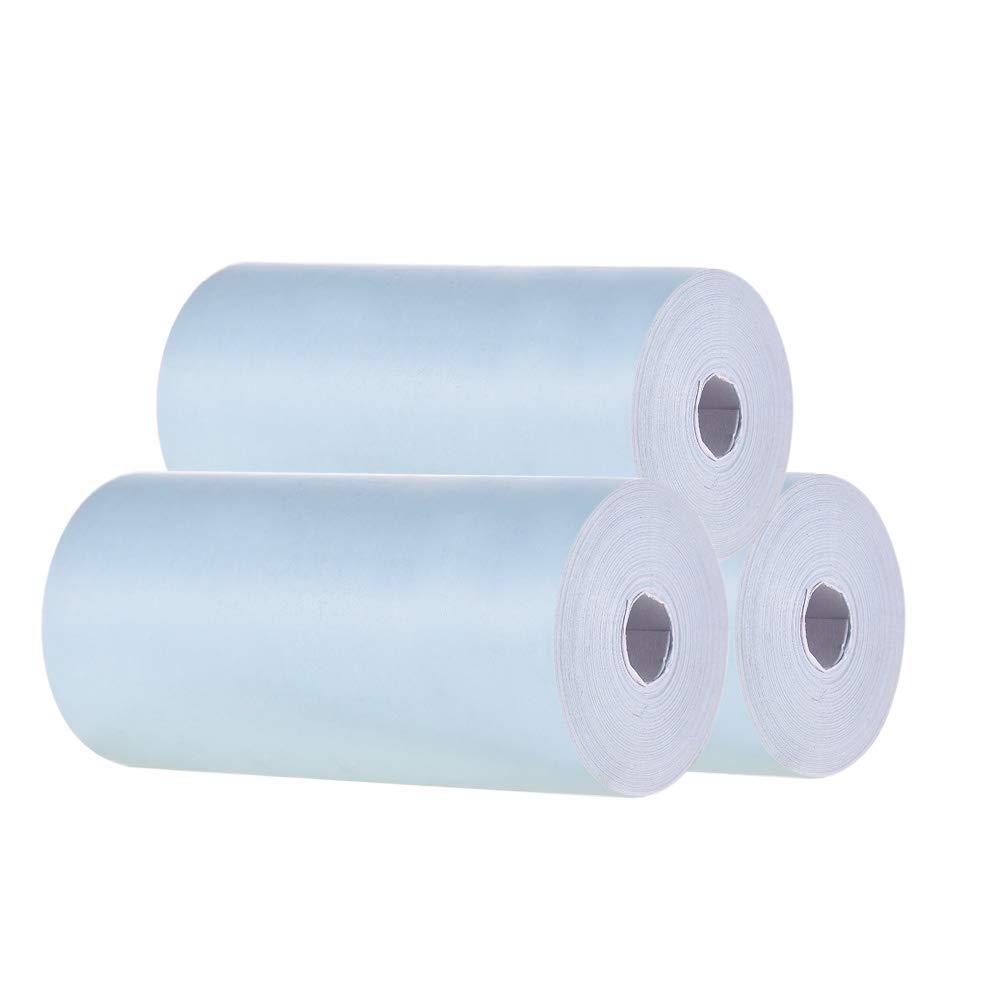 3 rollos Billete de papel fotogr/áfico Impresi/ón clara para la impresora t/érmica de bolsillo PeriPage A6 2.17 * 1.18in Rollo de papel t/érmico en color 57 * 30 mm