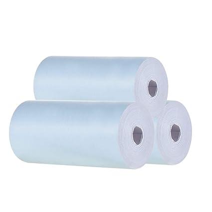 Aibecy Rollo de papel térmico en color 57*30mm Papel ...