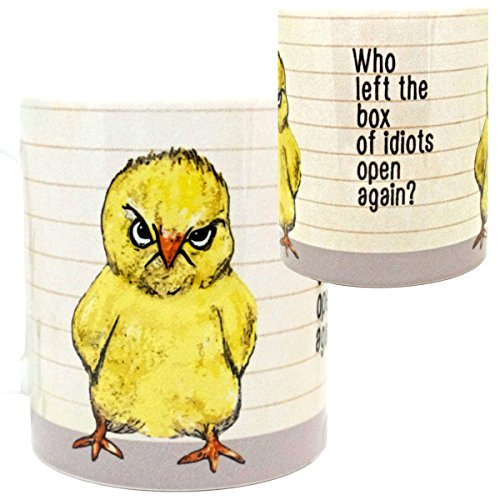 Idiot Box Chick Mug by Pithitude - One Single 11oz. White Coffee Cup
