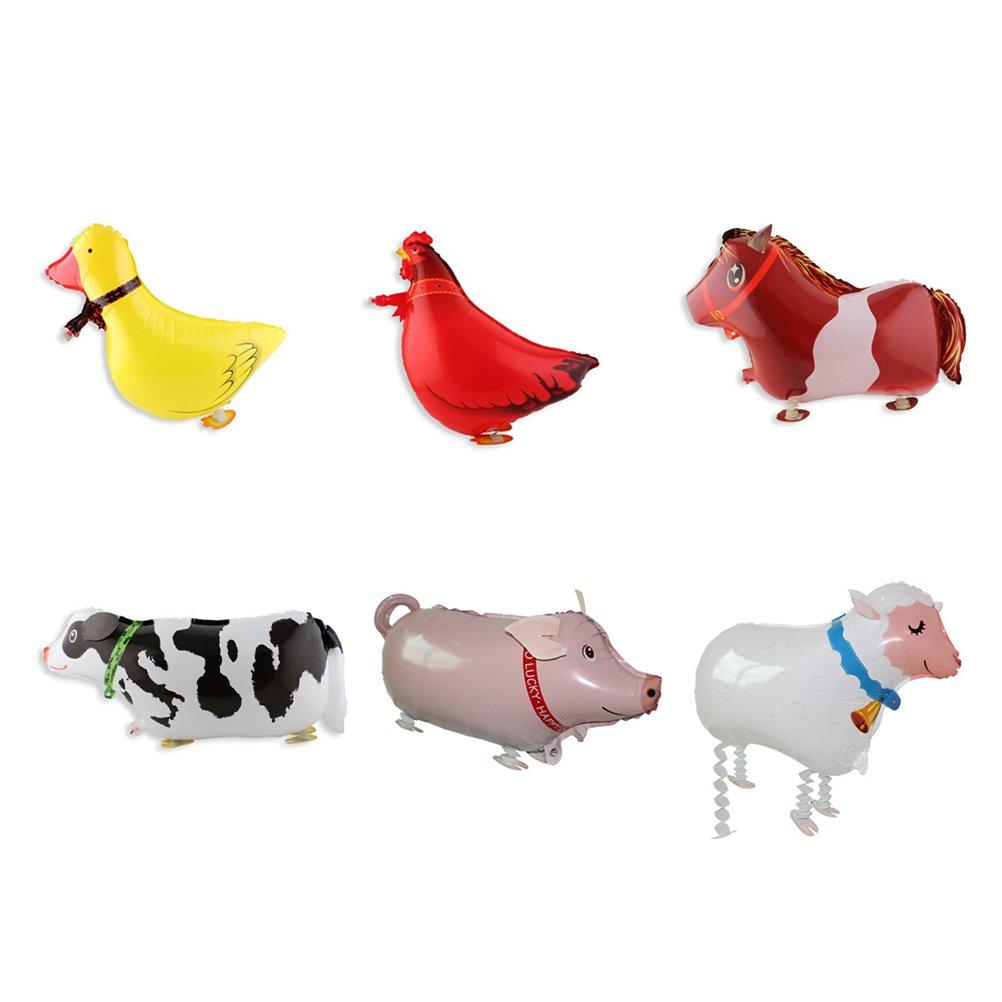 6 Piezas Globo de Papel Animal para Fiesta de cumplea/ños Deco Juguetes Juguete Regalo Toyvian Airwalker Globos Caminando Globos