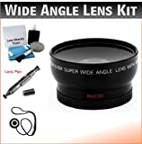 37mm Digital Pro Wide Angle/Macro Lens Bundle For Select Panasonic Mini Dv Camcorders. UltraPro Bundle Includes: Lens Cleaning Pen, Lens Cap Keeper, Camera Cleaning Kit