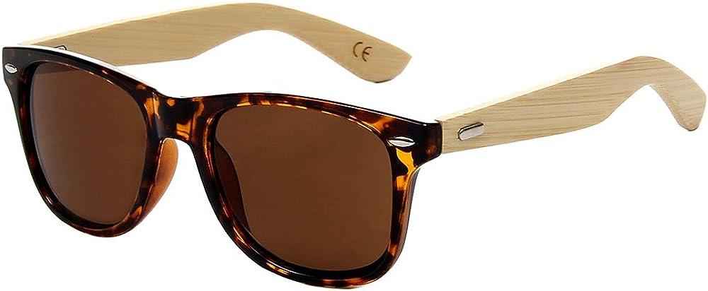 Shiratori Prevent Radiation Classic Bamboo Wood Sunglasses